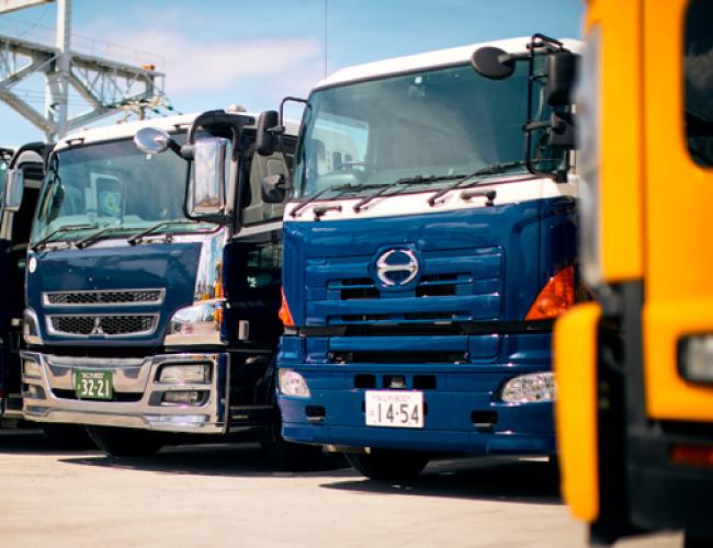産業廃棄物収集運搬のメインビジュアル